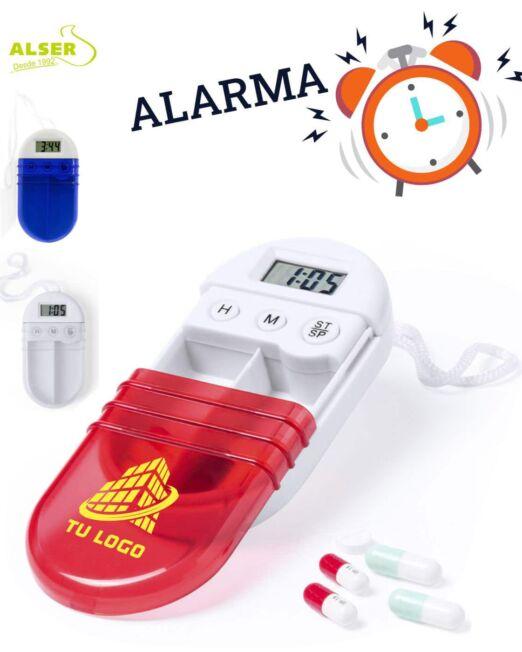 Pastillero con alarma personalizado con logo