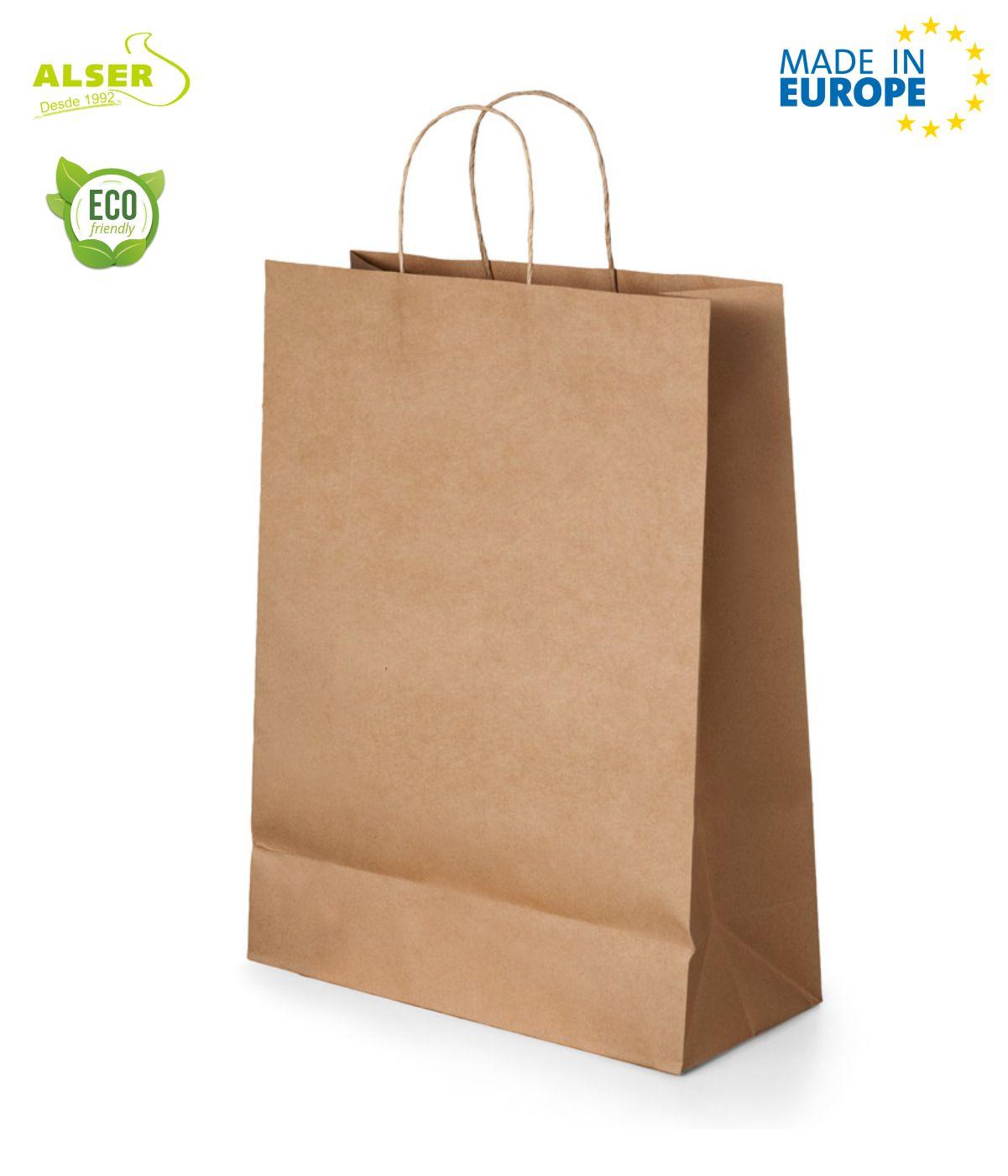 Bolsa de papel Kraft mediana