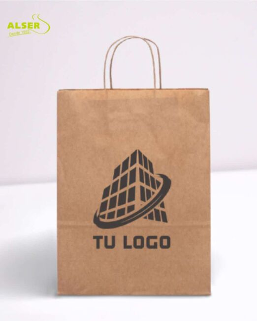 Bolsa de papel kraft pequeña personalizada