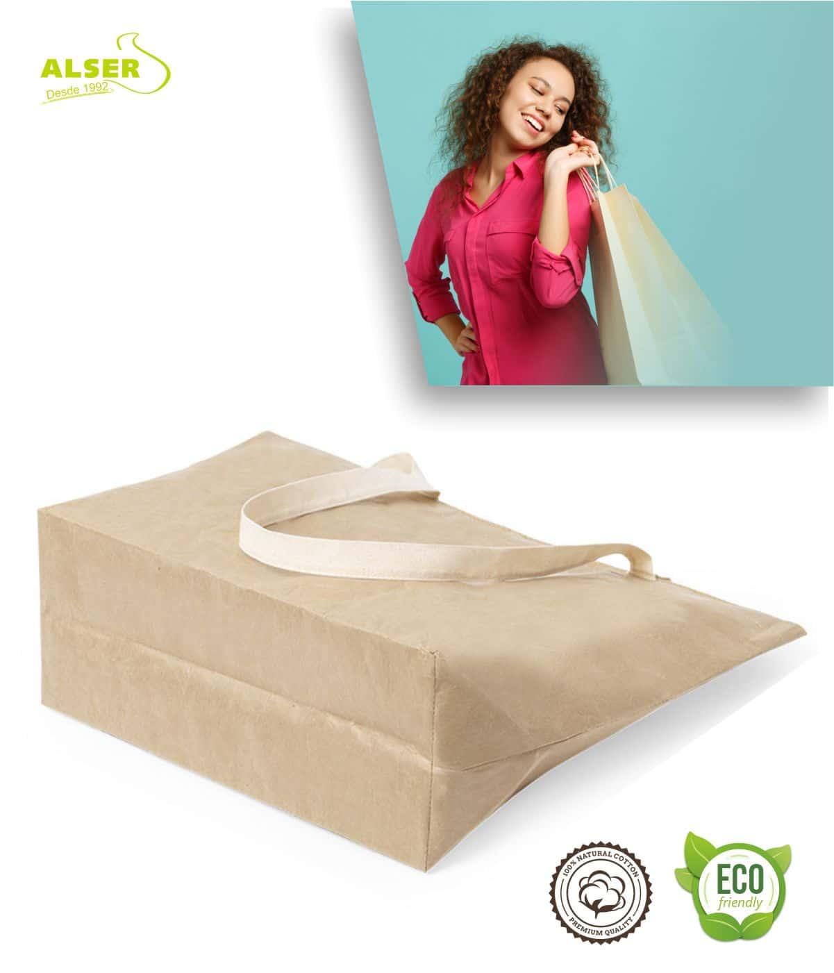 Bolsa de papel laminado detalle base