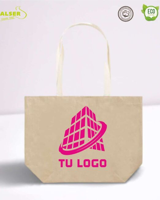 Bolsa de papel laminado impresa con logo