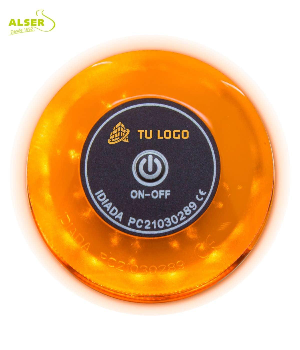 Luz de emergencia Baliza V16 con logotipo