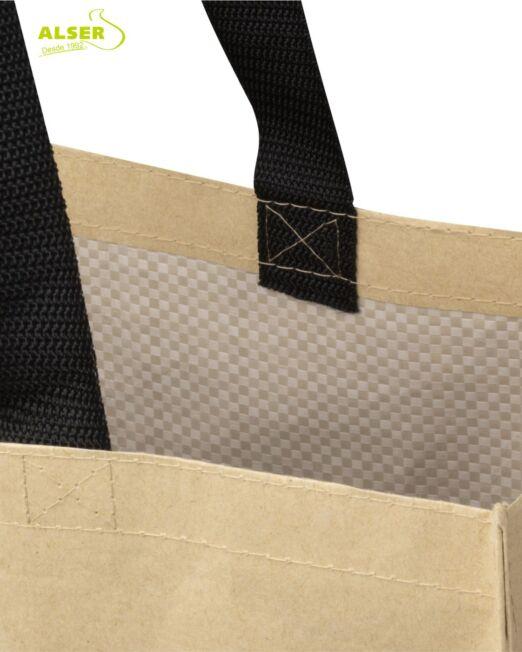 bolsa de compra de papel Kraft detalle