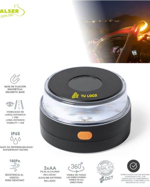 help flash luz de emergencia autonoma negra