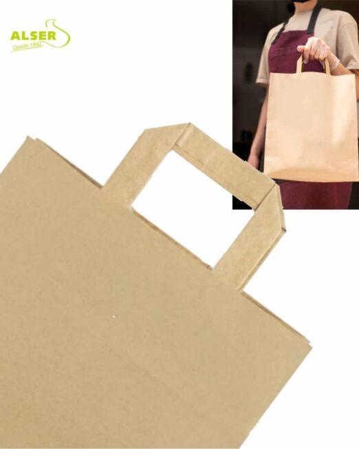 Bolsa de papel detalle asa plana
